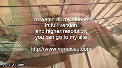 veneisse BDSM tied torture and double fisting in cage